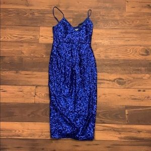 Blue sequence dress